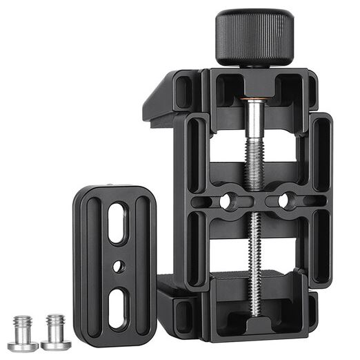 LEOFOTO GS-2 Rifle Clamp Support Mount w 60mm QR Clamp ArcaRRS Compatible_Disassembled