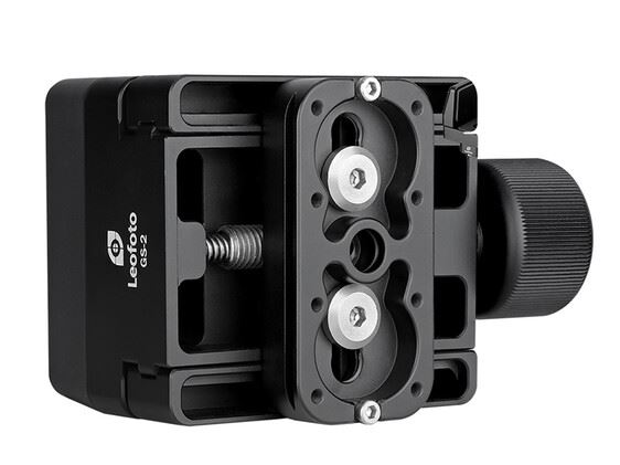 LEOFOTO GS-2 Rifle Clamp Support Mount w 60mm QR Clamp ArcaRRS Compatible_Inverted_side_view