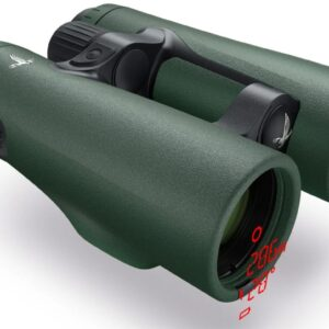 Swarovski EL Range 10X42 With Tracking Assistant Front Angled With Display View