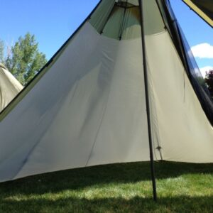 Seek Outside 6 Person Tipi Liner Half Installed View